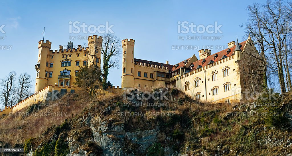 Hohenschwangau Castle in the Bavarian Alps of Germany stock photo