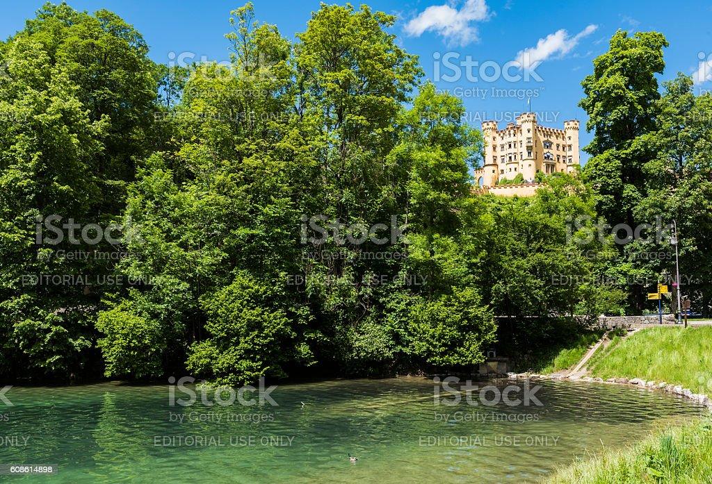 Hohenschwangau Castle stock photo