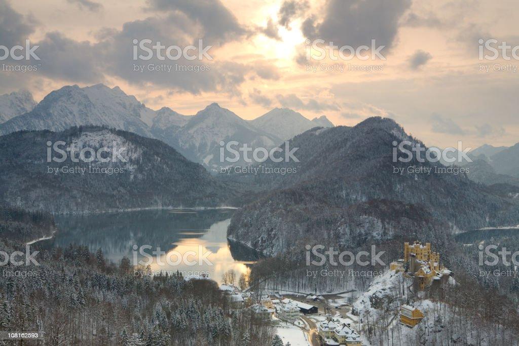 hohenschwangau stock photo