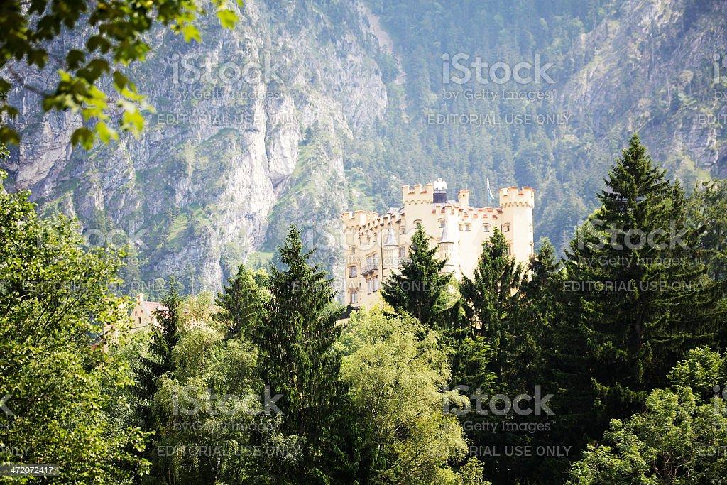 Hohenschwanstein Castle, Schwangau stock photo