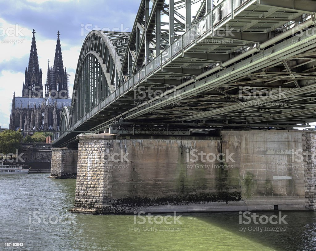 Hohenzollern and Dom stock photo
