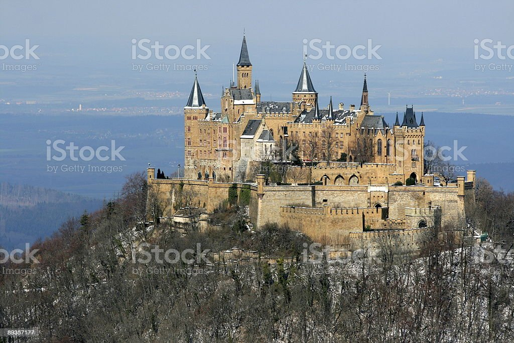 Hohenzollern at Winter stock photo
