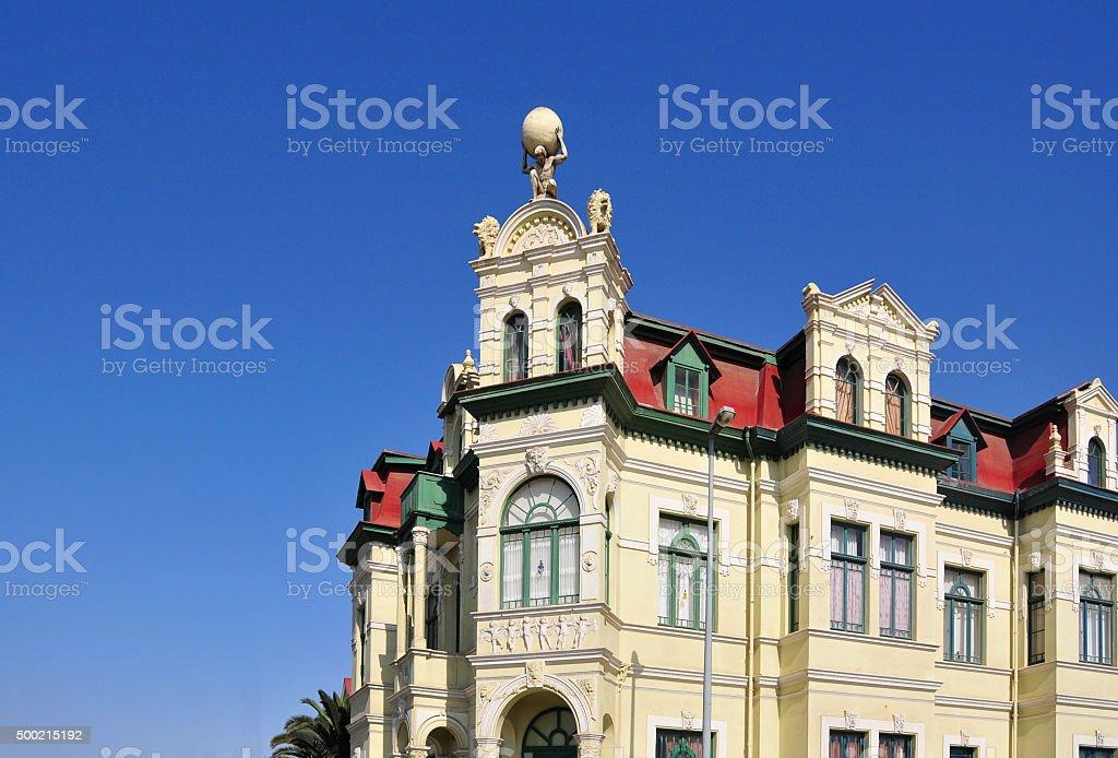 Hohenzollern building, Swakopmund, Namibia stock photo
