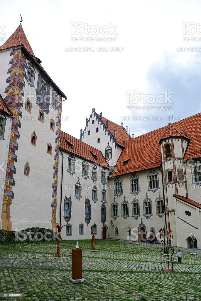 Hohes schloss, medieval castle stock photo