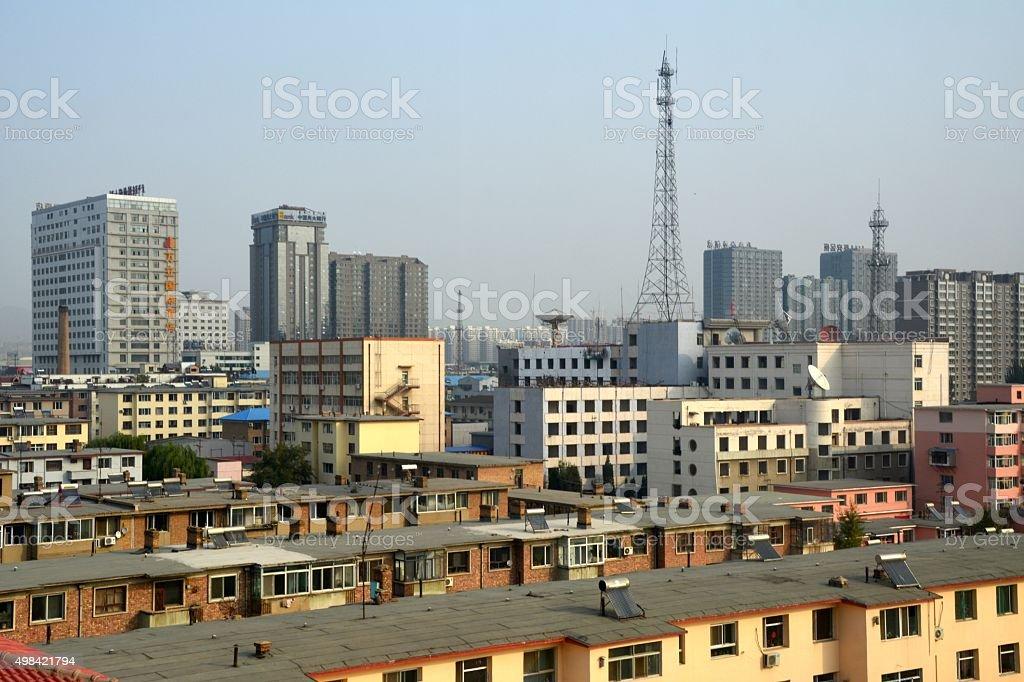 Hohhot cityscape, Inner Mongolia China stock photo