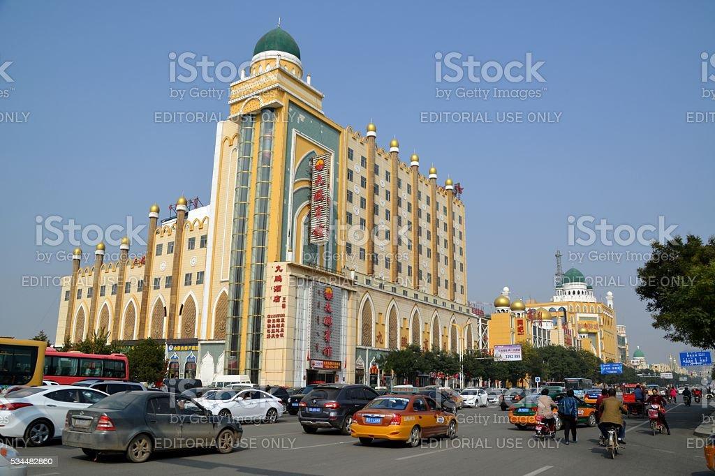 Hohhot Muslim Quarter, Inner Mongolia, China stock photo
