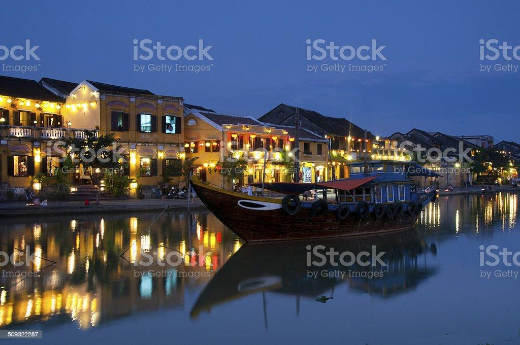 Hoi An ancient town at night stock photo