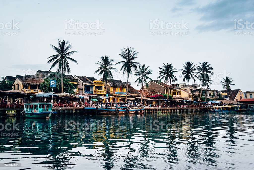 Hoi An ancient town in twilight stock photo