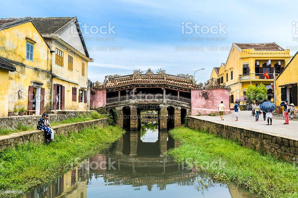 Hoi An's Japanese covered bridge stock photo