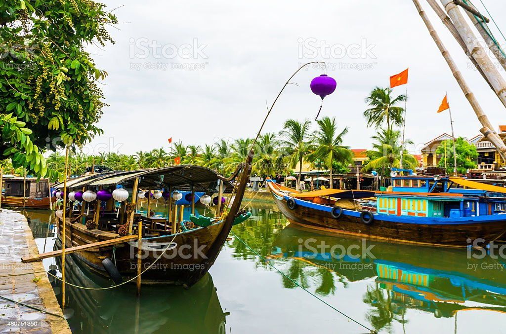 Hoi An?Sightseeing boat stock photo