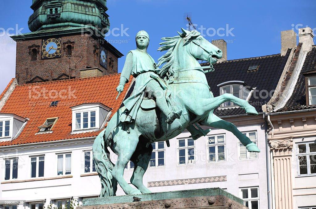 Hojbro Plads Square, Copenhagen, Denmark stock photo