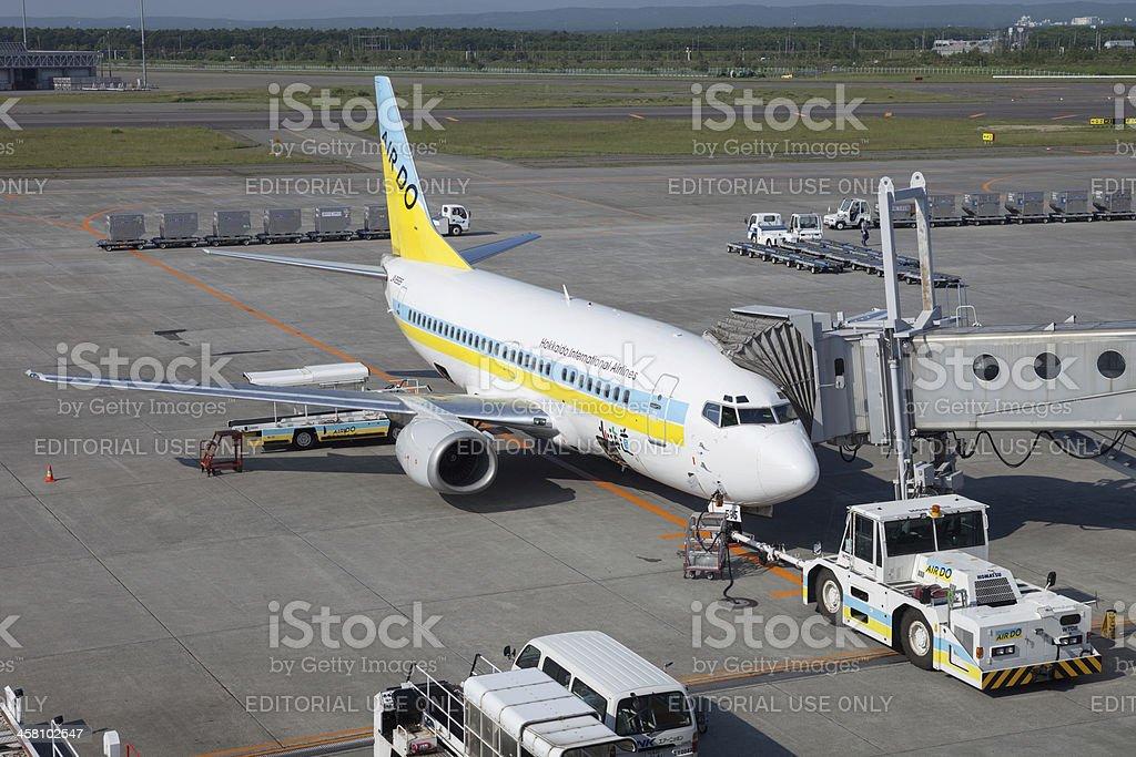 Hokkaido International Airlines Boeing 737-500 royalty-free stock photo