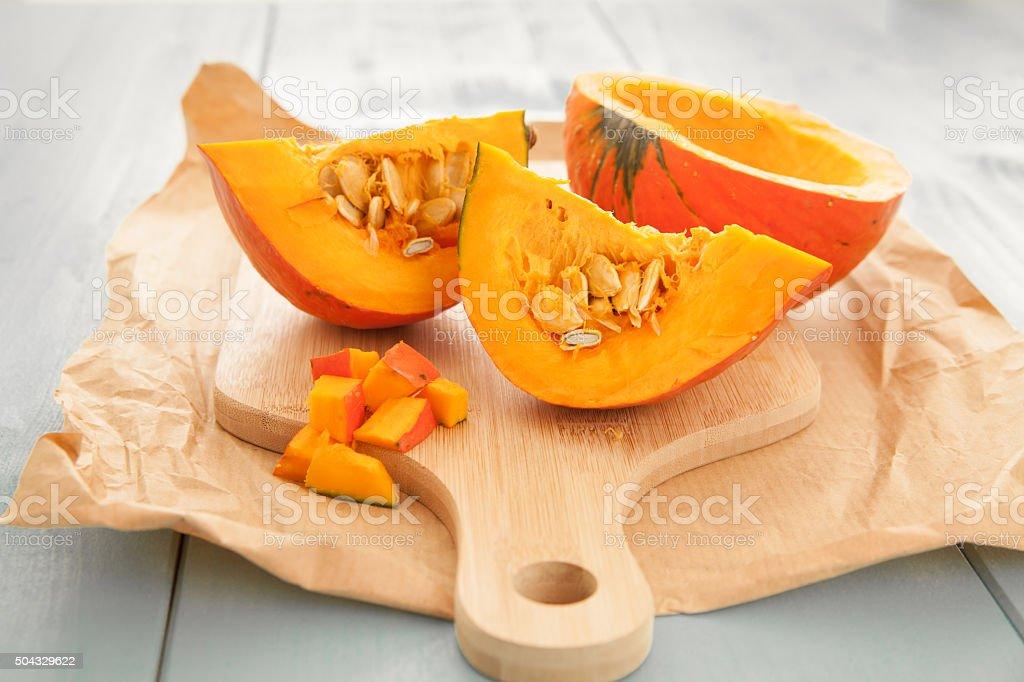 Hokkaido pumpkin stock photo