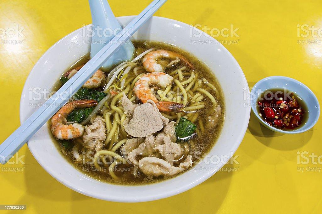 Hokkien Prawn Mee Soup Noodle royalty-free stock photo