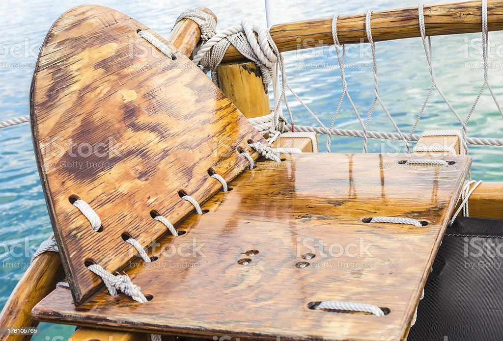 Hokulea Navigator's Seat royalty-free stock photo