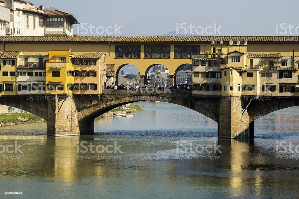Hold Bridge, Ponte Vecchio Florence stock photo