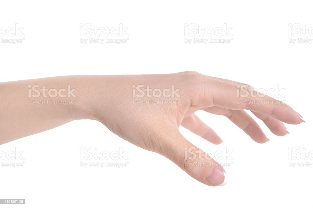 Hold Gesturing royalty-free stock photo