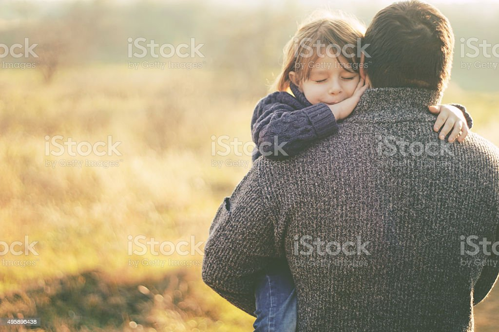 hold me daddy stock photo