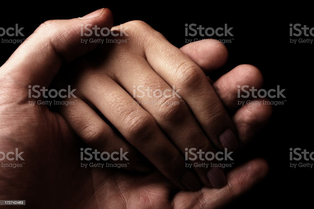 Hold my hand stock photo