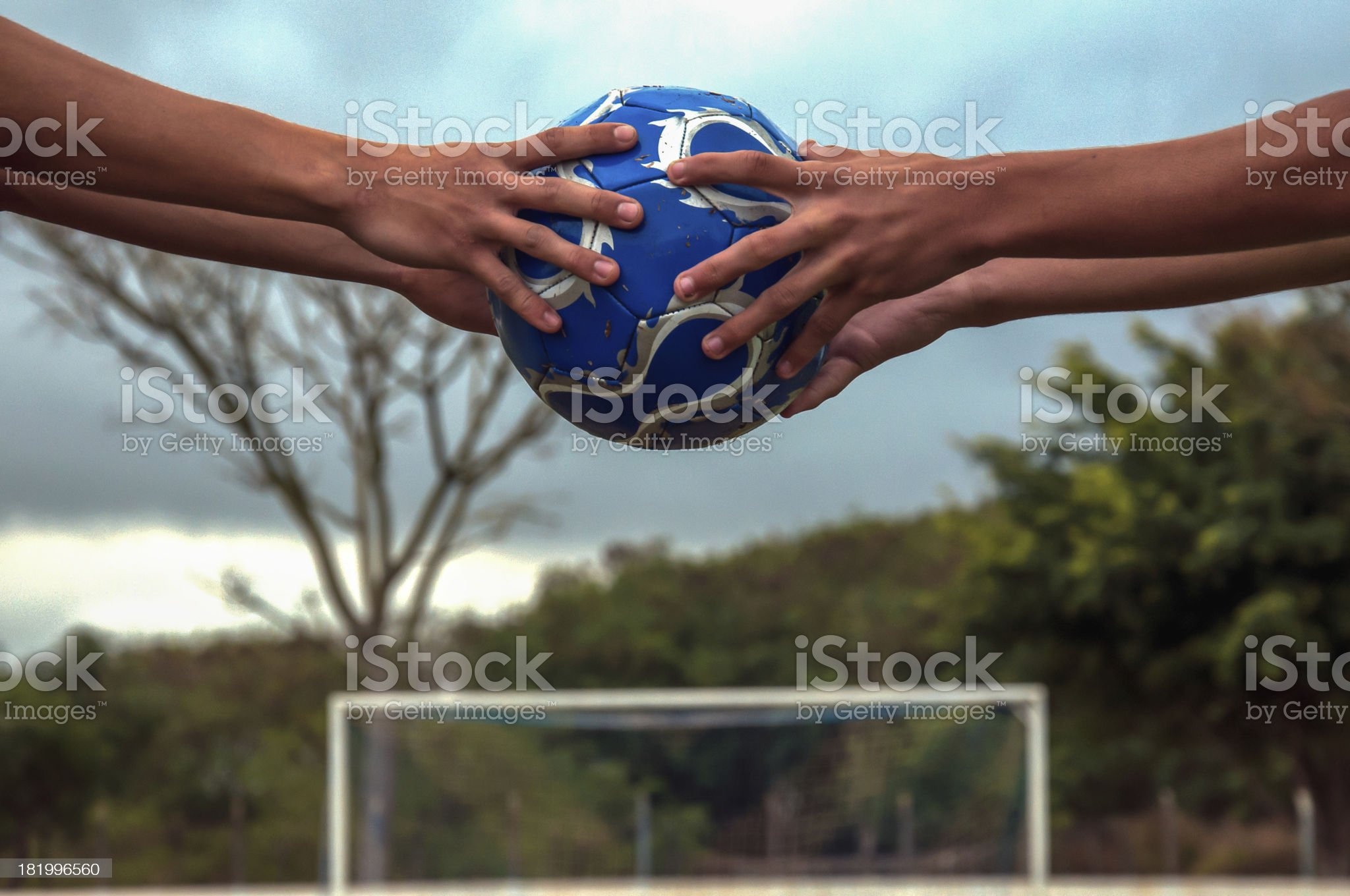 hold the ball royalty-free stock photo