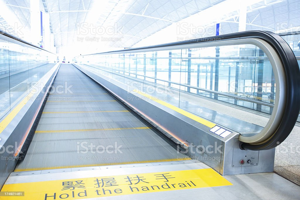 Hold the Handrail royalty-free stock photo