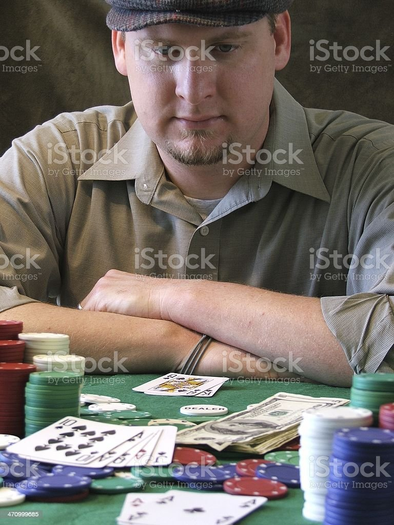 Hold'em: Making 'The Nuts' stock photo