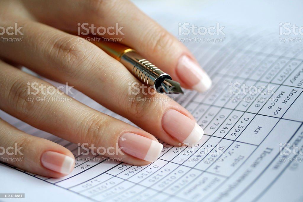 Holder in a female hand royalty-free stock photo