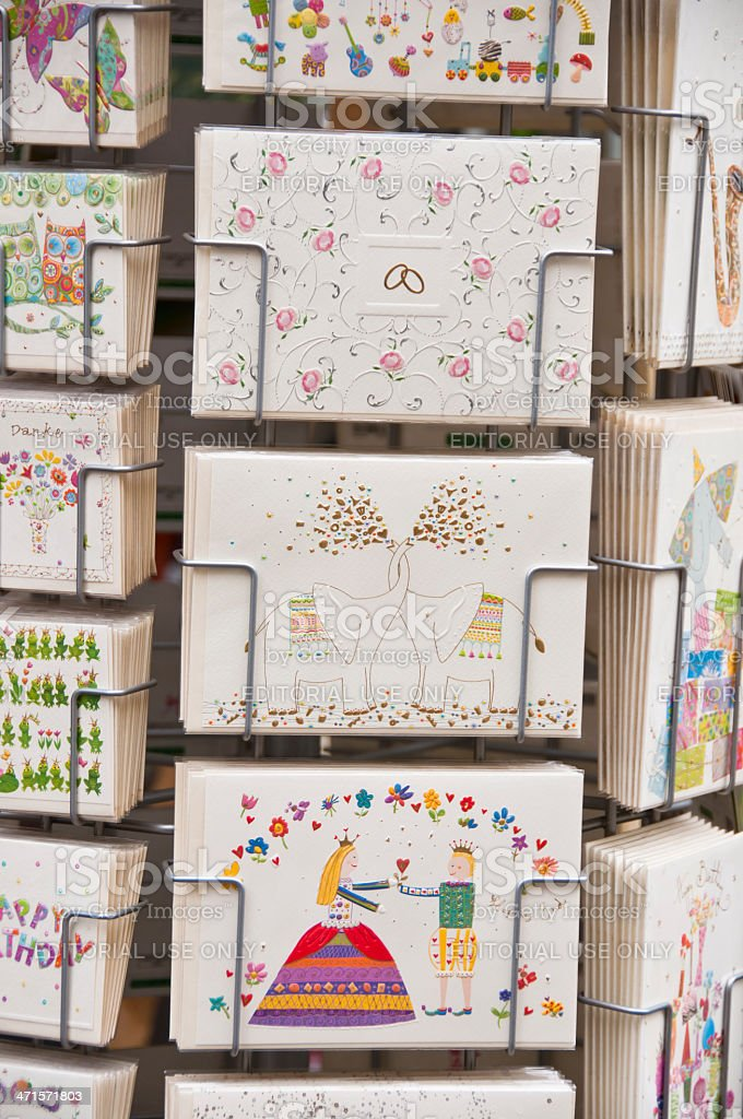 Holder with Greeting Cards royalty-free stock photo