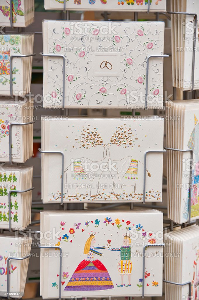 Holder with Greeting Cards stock photo