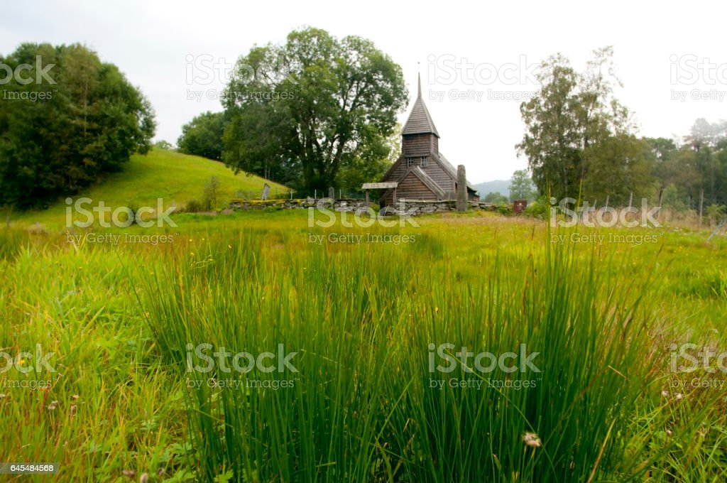 Holdhus kyrkje, Norway stock photo