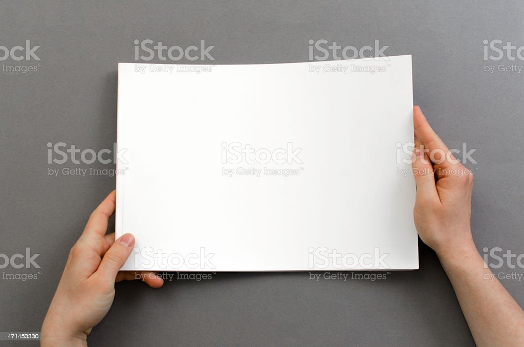 Holding A Blank Brochure With Copy Space stock photo 471453330 – Blank Brochure