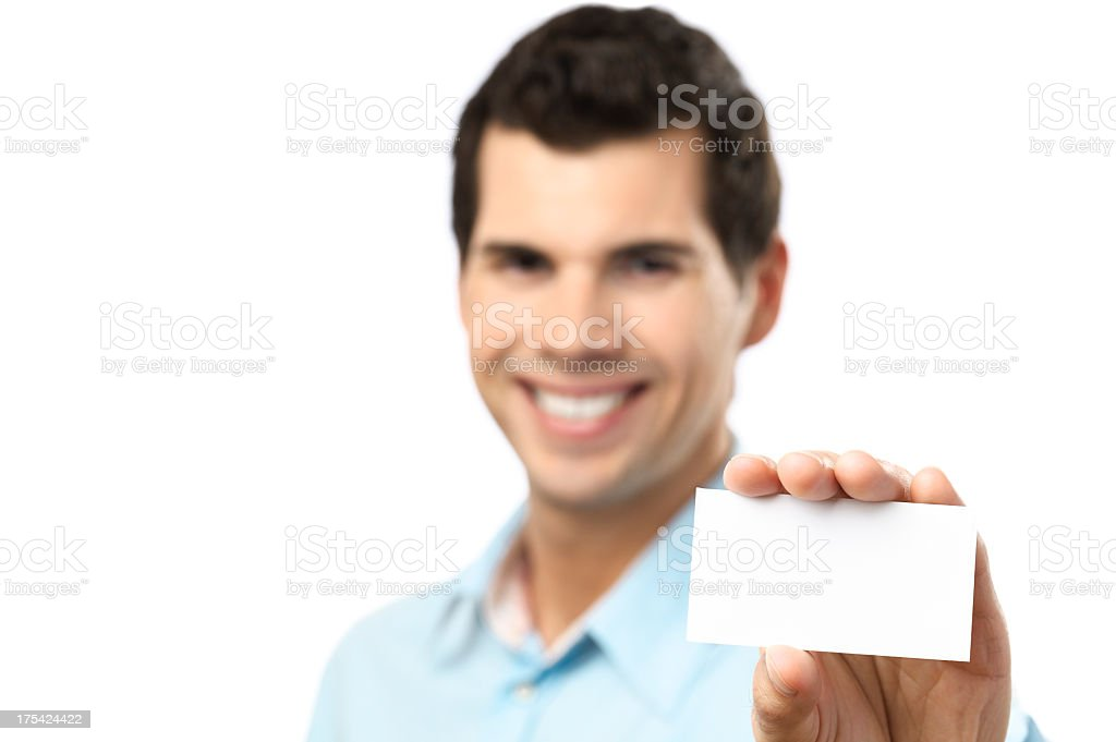 Holding a card stock photo