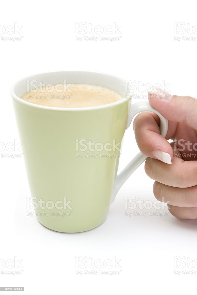 Holding a Cup of Coffee royalty-free stock photo