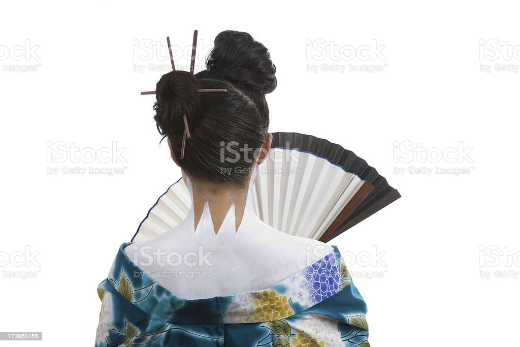 Holding A Fan royalty-free stock photo