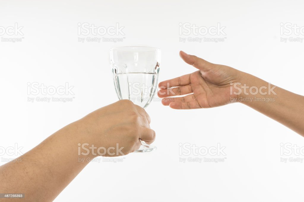 Holding a Glass stock photo