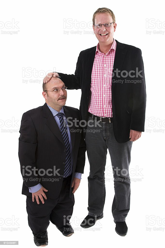 Holding a hand above his head royalty-free stock photo