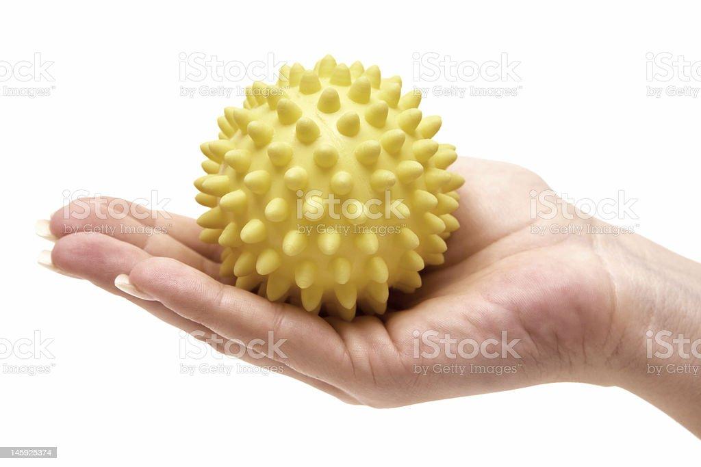 Holding a Massage Ball stock photo