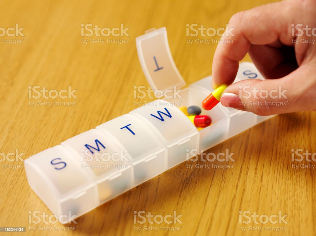 Holding a Medical Tablet stock photo
