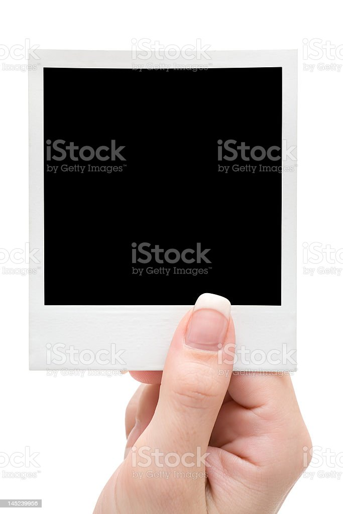 Holding a Picture Frame royalty-free stock photo