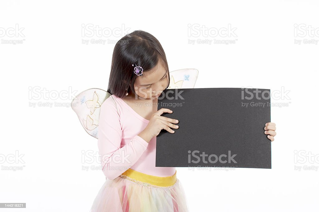 holding a placard royalty-free stock photo