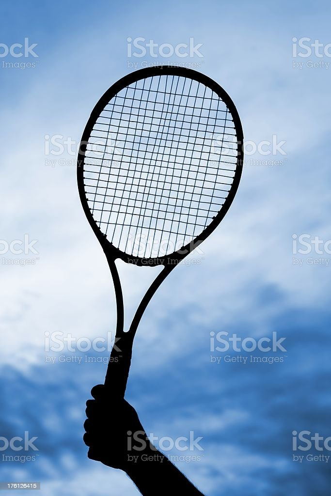 Holding a racket royalty-free stock photo