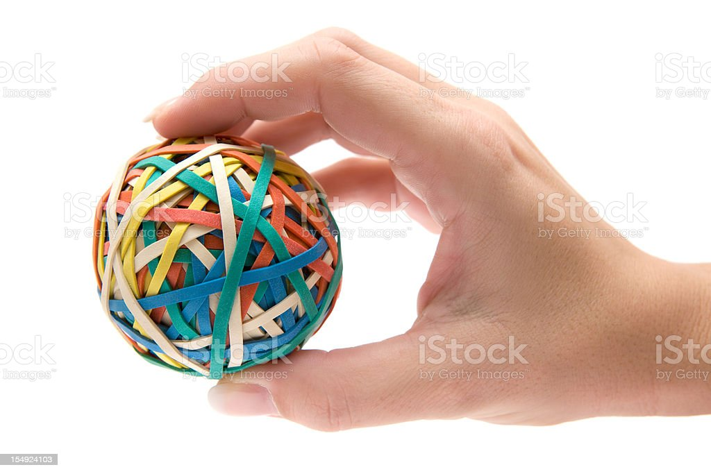 Holding a Rubber Ball stock photo