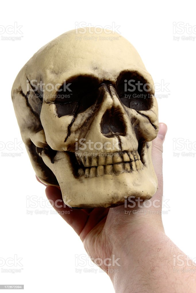 Holding A Skull royalty-free stock photo