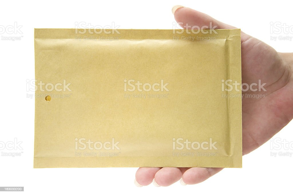 Holding a Small Envelope royalty-free stock photo