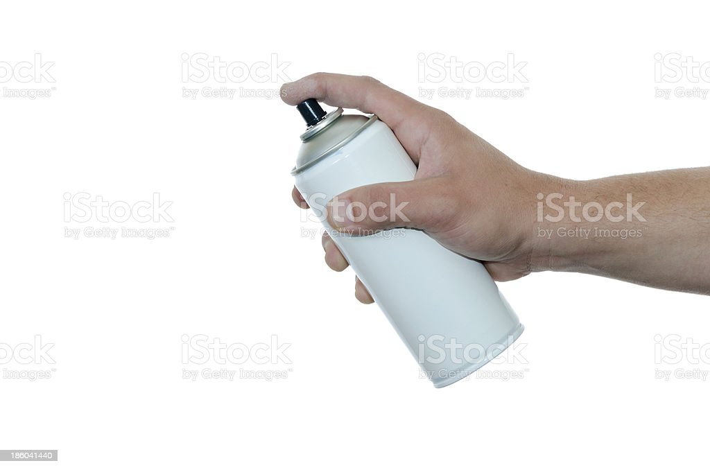 Holding a Spray Paint Can stock photo