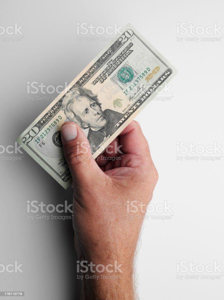 Holding American Dollars stock photo