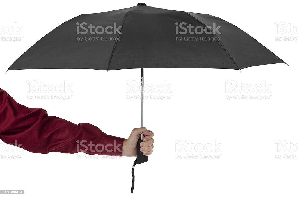 Holding an Umbrella royalty-free stock photo