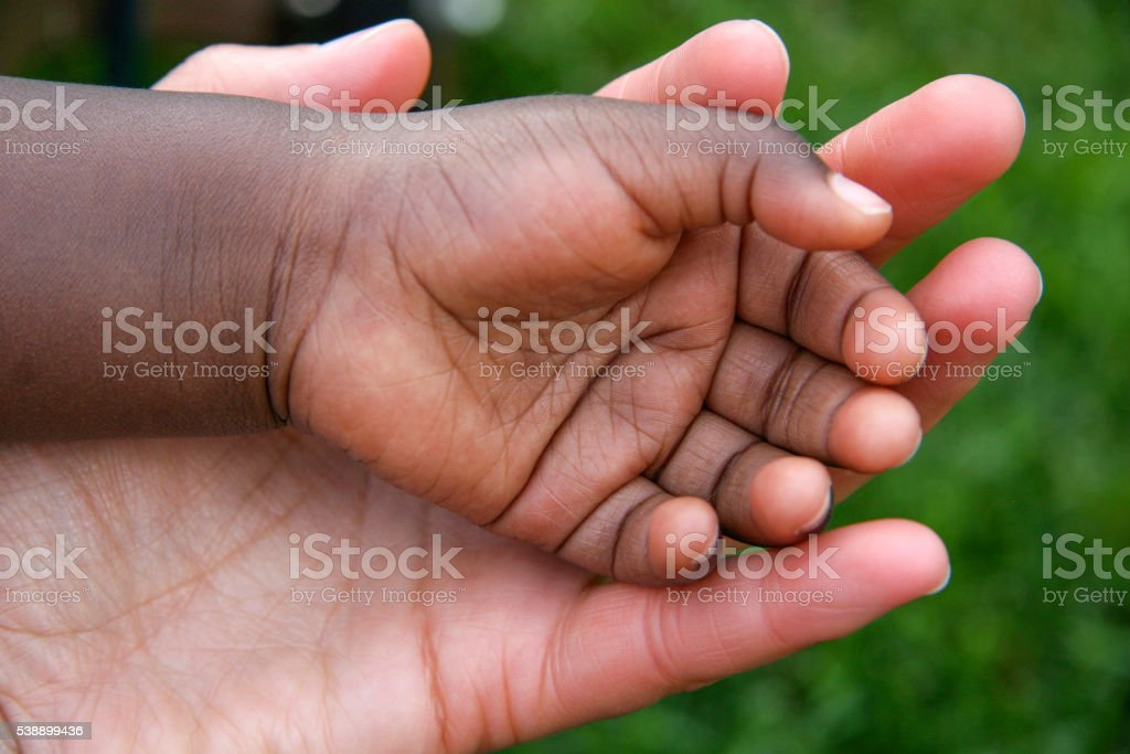 Holding Baby Hand stock photo