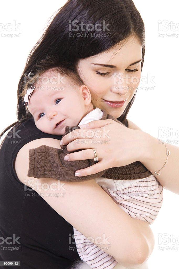 Holding Baby royalty-free stock photo
