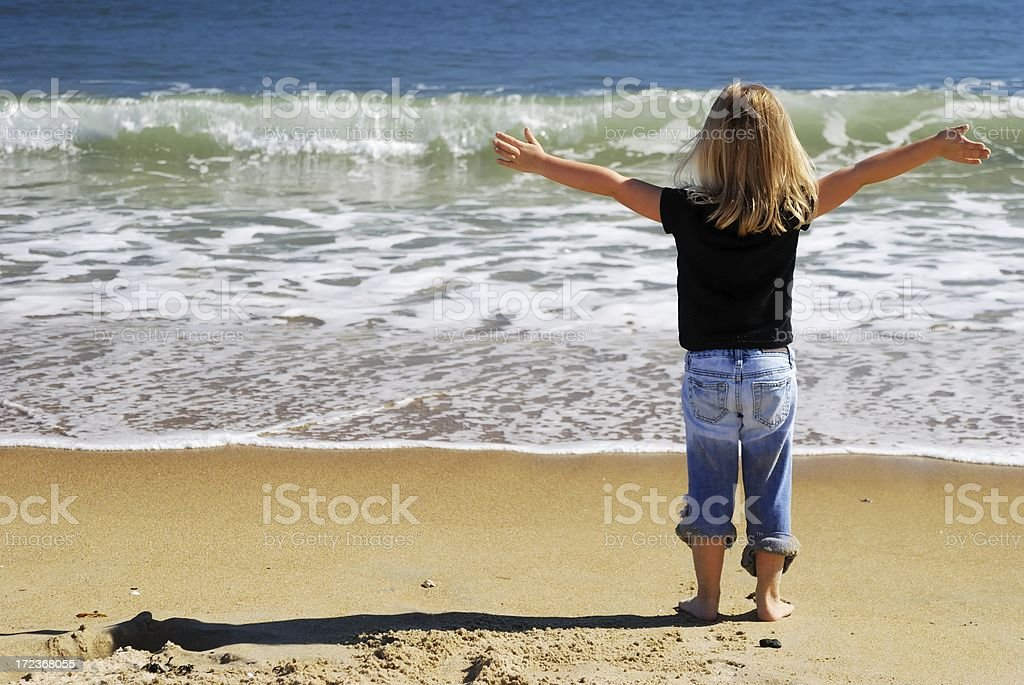 holding back the sea royalty-free stock photo
